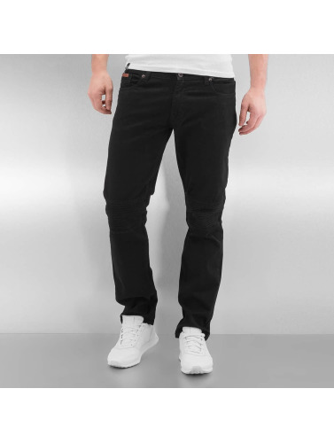 Rocawear Herren Straight Fit Jeans Quilted in schwarz