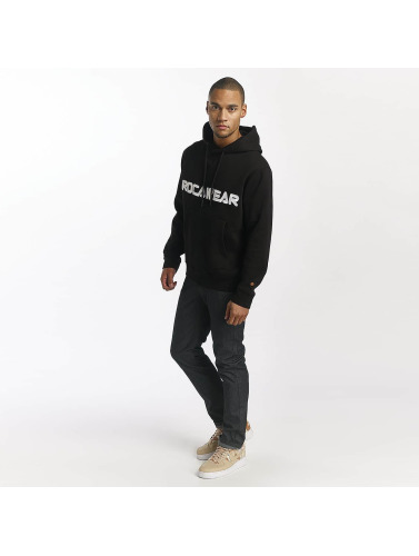 Rocawear Hombres Sudadera Font in negro