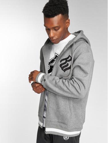 Rocawear Hombres Sudaderas con cremallera Logo in gris