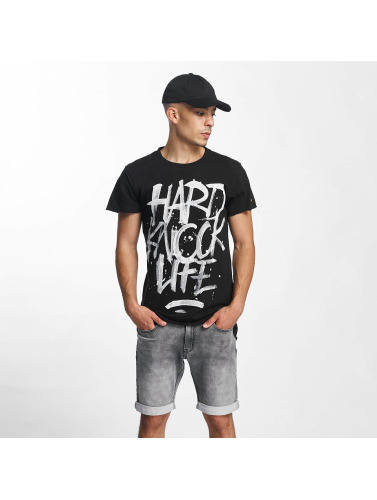 Rocawear Herren T-Shirt Hard Knock Life in schwarz