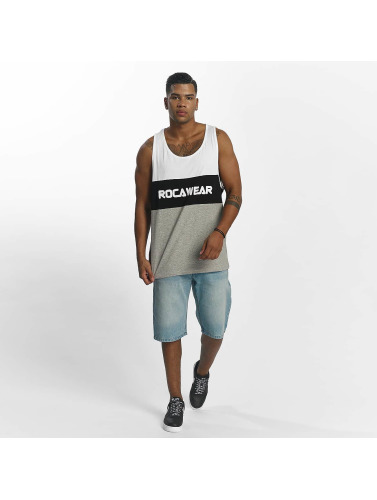 Rocawear Hombres Tank Tops Color Block in blanco