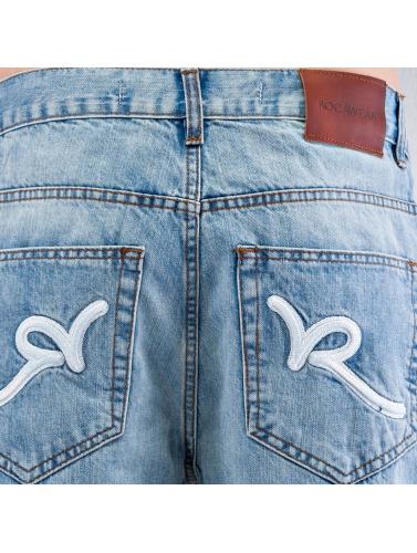 Rocawear Hombres Vaqueros anchos Tap in azul