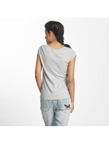 Rock Angel Mujeres Camiseta Leo in gris