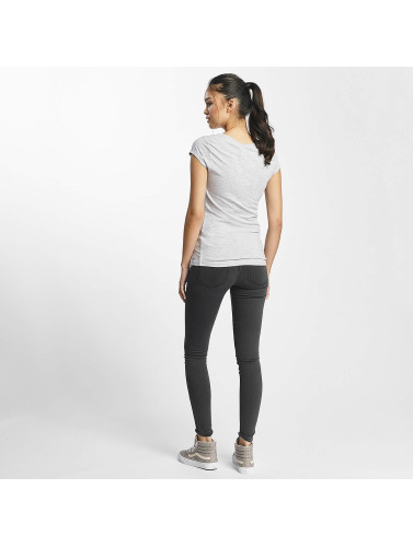 Rock Angel Mujeres Camiseta Mickey Mouse in gris