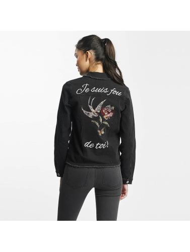 Rock Angel Mujeres Chaqueta de entretiempo Nia Embroideries in negro