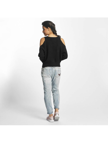 Rock Angel Damen Longsleeve Cold Shoulder in schwarz