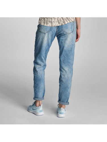 Rock Angel Damen Loose Fit Jeans Charlotta in blau