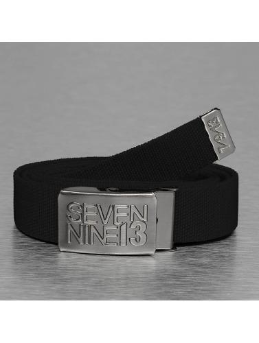 Seven Nine 13 Gürtel Jaws Stretch in schwarz