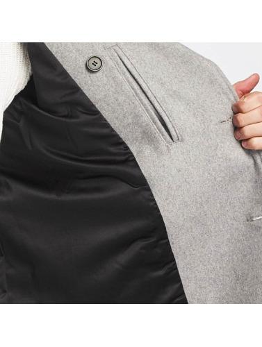 SHINE Original Hombres Abrigo Button Row in gris