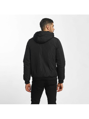 SHINE Original Herren Bomberjacke Hooded in schwarz
