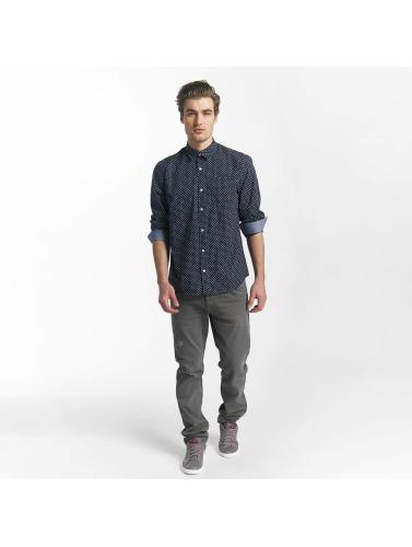 SHINE Original Hombres Camisa Fletcher Broken Star Printed Shirt in azul