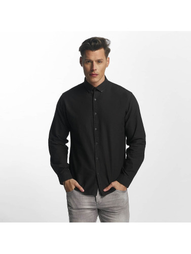 SHINE Original Hombres Camisa Oxford in negro