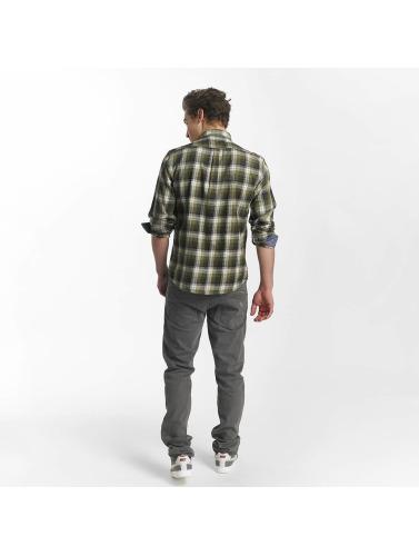 SHINE Original Hombres Camisa Fernando Grunge Check in verde