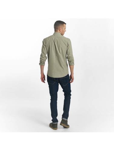 SHINE Original Hombres Camisa Cotton Mélange Otto Line in verde