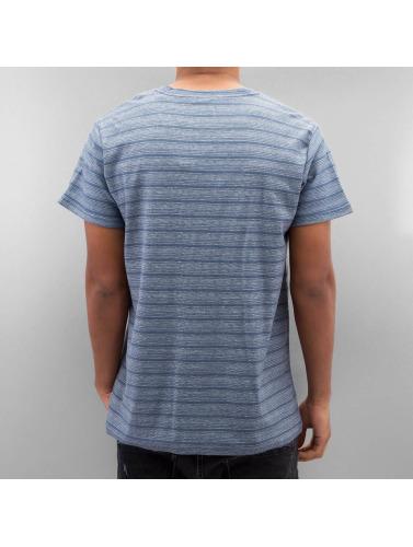 SHINE Original Hombres Camiseta Inside Out Stripe in azul