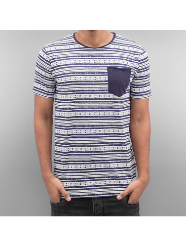 SHINE Original Hombres Camiseta Stripes in azul