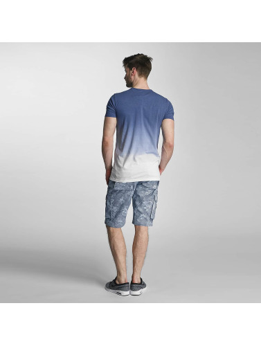 SHINE Original Hombres Camiseta Dip Dyed in azul
