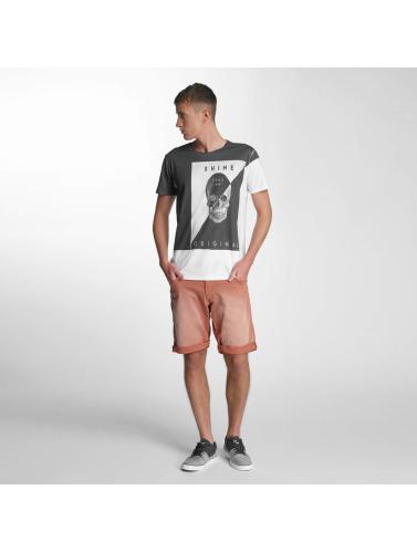 SHINE Original Hombres Camiseta Print Oversize in blanco