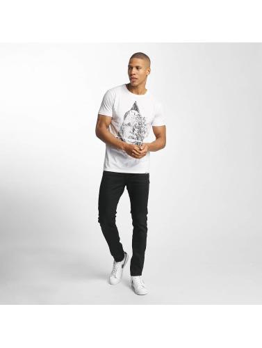 SHINE Original Hombres Camiseta August Graphic in blanco