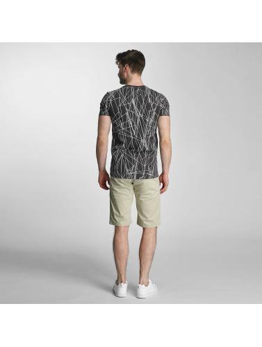 SHINE Original Hombres Camiseta Long Oversize Jarrod in negro