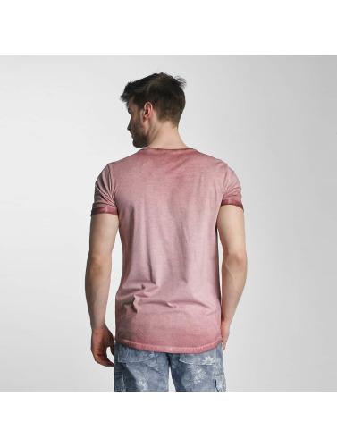SHINE Original Hombres Camiseta Dirt Dye Wash in rosa