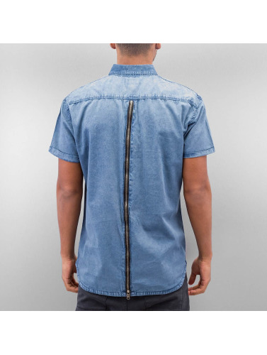 SHINE Original Herren Hemd Washed And Worn Out in blau