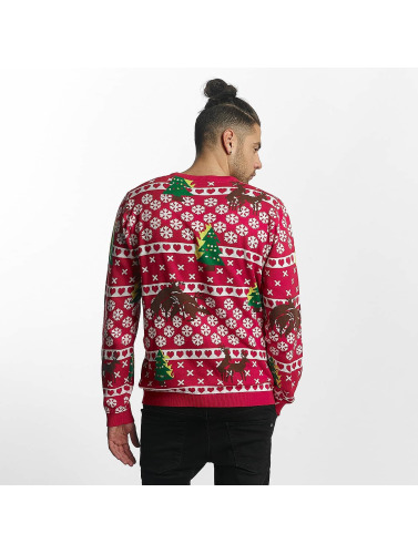 SHINE Original Hombres Jersey Whitney Christmas Jaquard in rojo