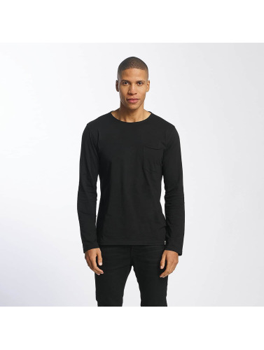SHINE Original Herren Longsleeve Andrian Dyed & Wash Out in schwarz