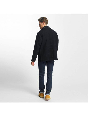 SHINE Original Herren Mantel Button Row  in blau
