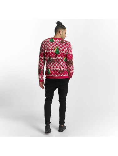 SHINE Original Herren Pullover Whitney Christmas Jaquard in rot