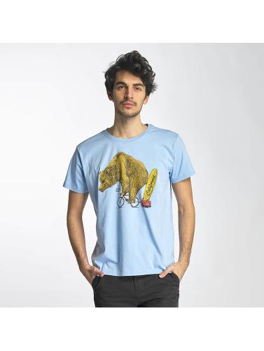 SHINE Original Herren T-Shirt Bear in blau