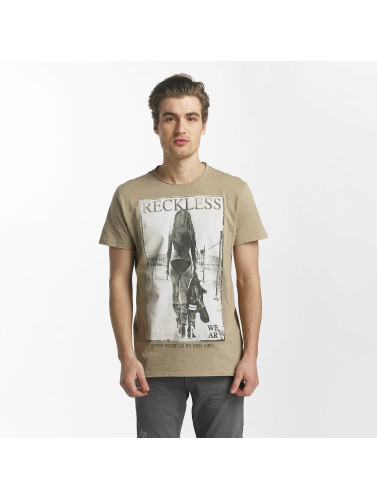 SHINE Original Herren T-Shirt Dusty Photo Print in braun