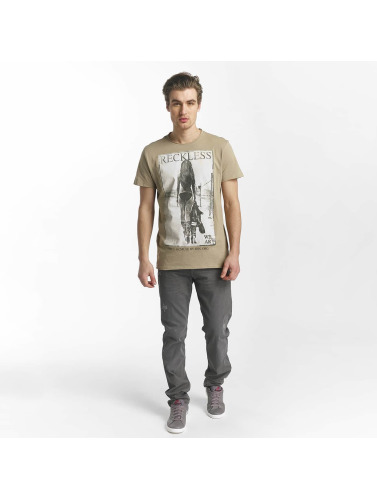 SHINE Original Herren T-Shirt Dusty Photo Print in braun