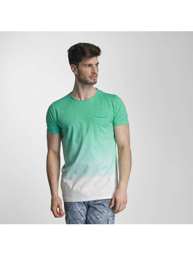 SHINE Original Herren T-Shirt Dip Dyed in grün