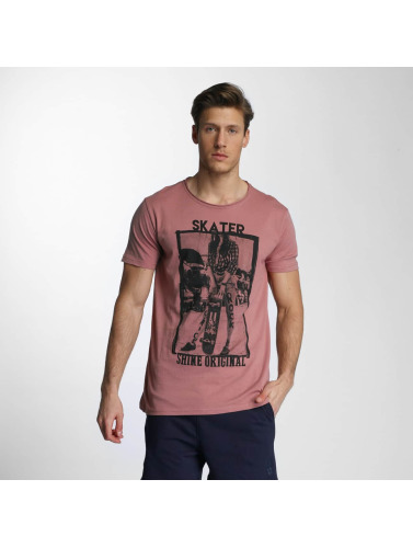 SHINE Original Herren T-Shirt Skater in rosa