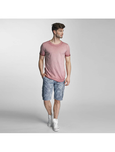 SHINE Original Herren T-Shirt Dirt Dye Wash in rosa
