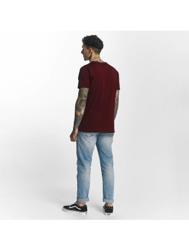 SHINE Original Herren T-Shirt Denim City Print in rot