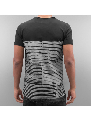 SHINE Original Herren T-Shirt Stripes in schwarz