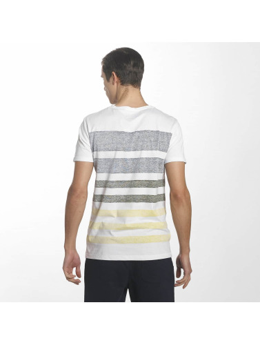 SHINE Original Herren T-Shirt Faded Stripe in weiß