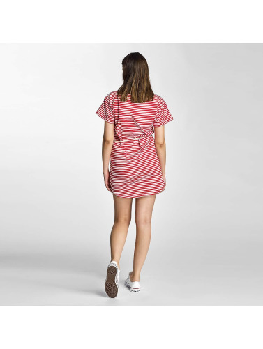 Shisha Damen Kleid Ringel in rot