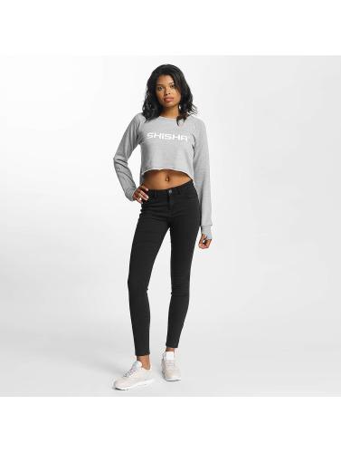Shisha Damen Pullover Cropped in grau