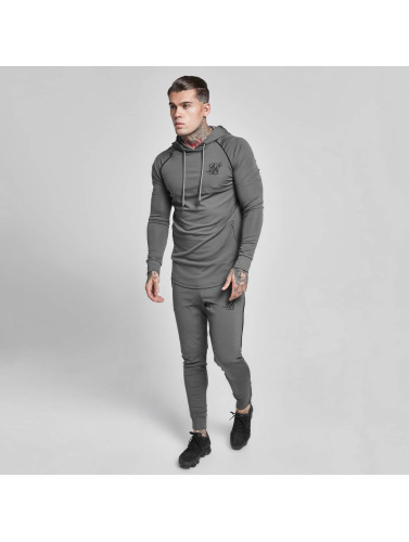 Sik Silk Hombres Sudadera Zonal Overhead Track in gris