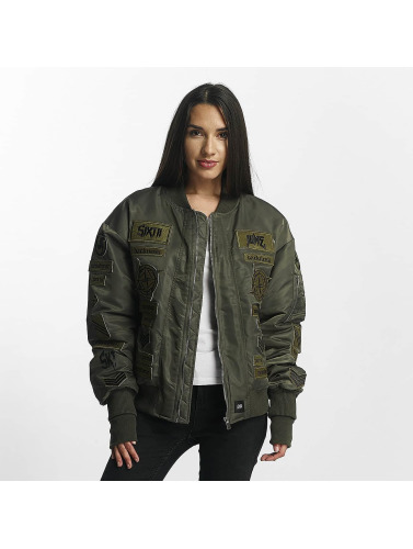 Sixth June Damen Bomberjacke Premium in khaki