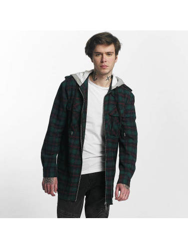 Sixth June Hombres Camisa Classic Flannel in verde