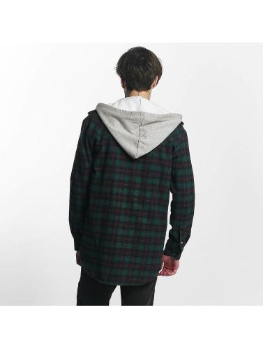 Sjette Juni Hombres Camisa Klassisk Flanell I Verde stort spekter av p3eIekG