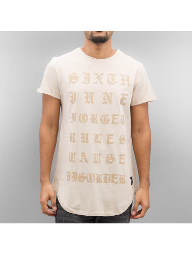 Sixth June Hombres Camiseta Curved Gothic in beis