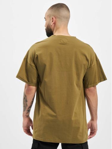 Sixth June Hombres Camiseta DropShoulder in caqui
