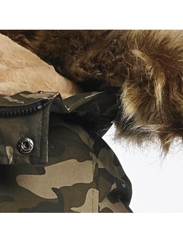 Sixth June Hombres Chaqueta de invierno Fur in camuflaje