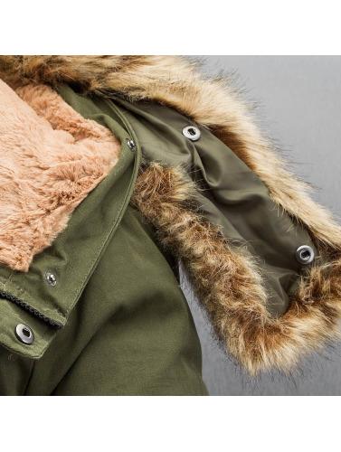 Sixth June Hombres Chaqueta de invierno Fur in caqui
