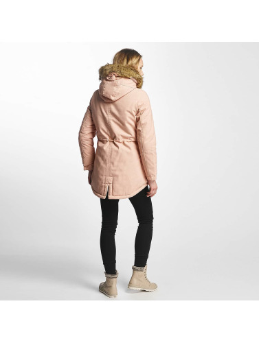 Sixth June Mujeres Chaqueta de invierno Oversize With Fake Fur Hood Classic in rosa